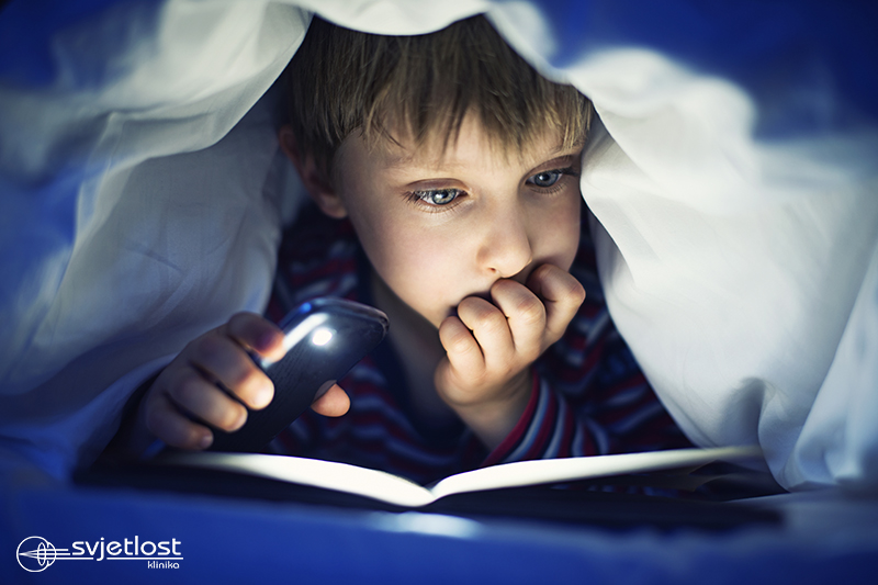 Should children read in the dark?